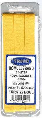 Bomullsband+3m+13mm