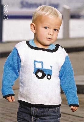 Barntröja med traktor